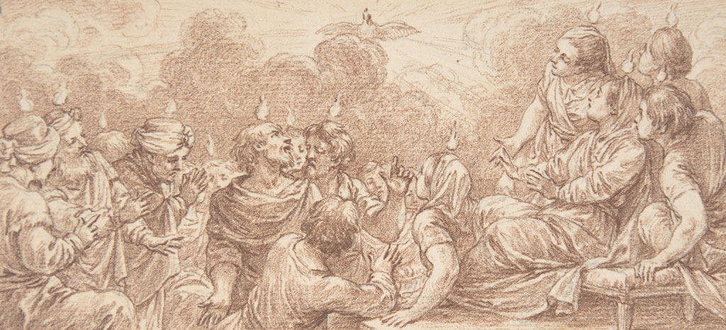 The Coming of the Holy Spirit at Pentecost by Charles Nicolas Cochin II