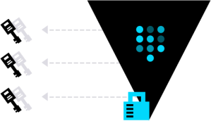 Graphic illustrating it takes three keys to open the vault.