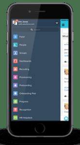 Salesforce.com HR mobile app, app view.