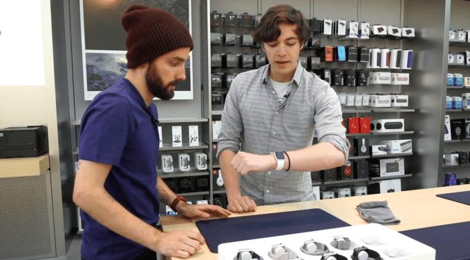 Apple Watch fitting demo