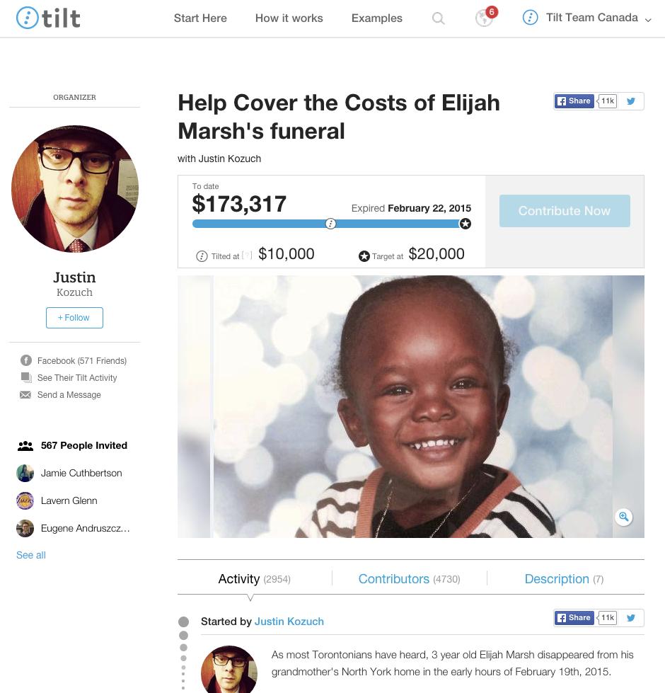 Top Tilt - Elijah Marsh Fundraiser