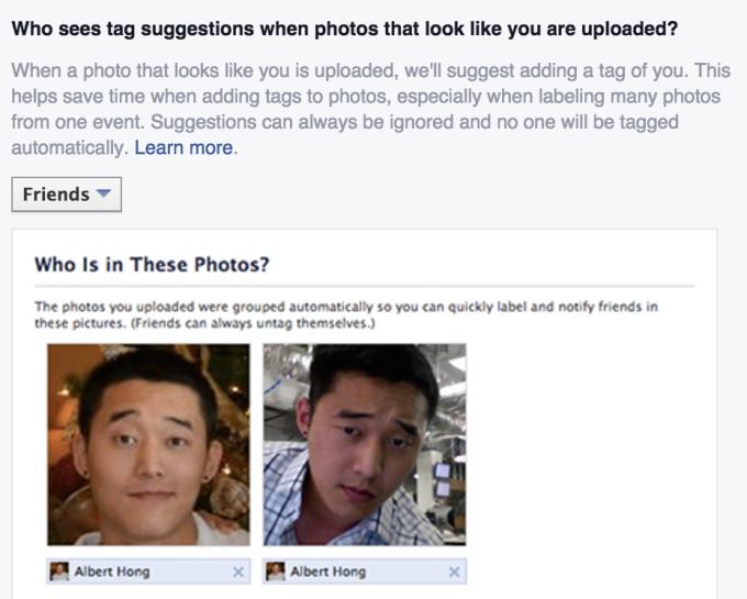 Facebook Facial Recognition Opt Out