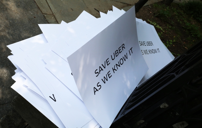UBER NYC Protest Signs Stacked 2