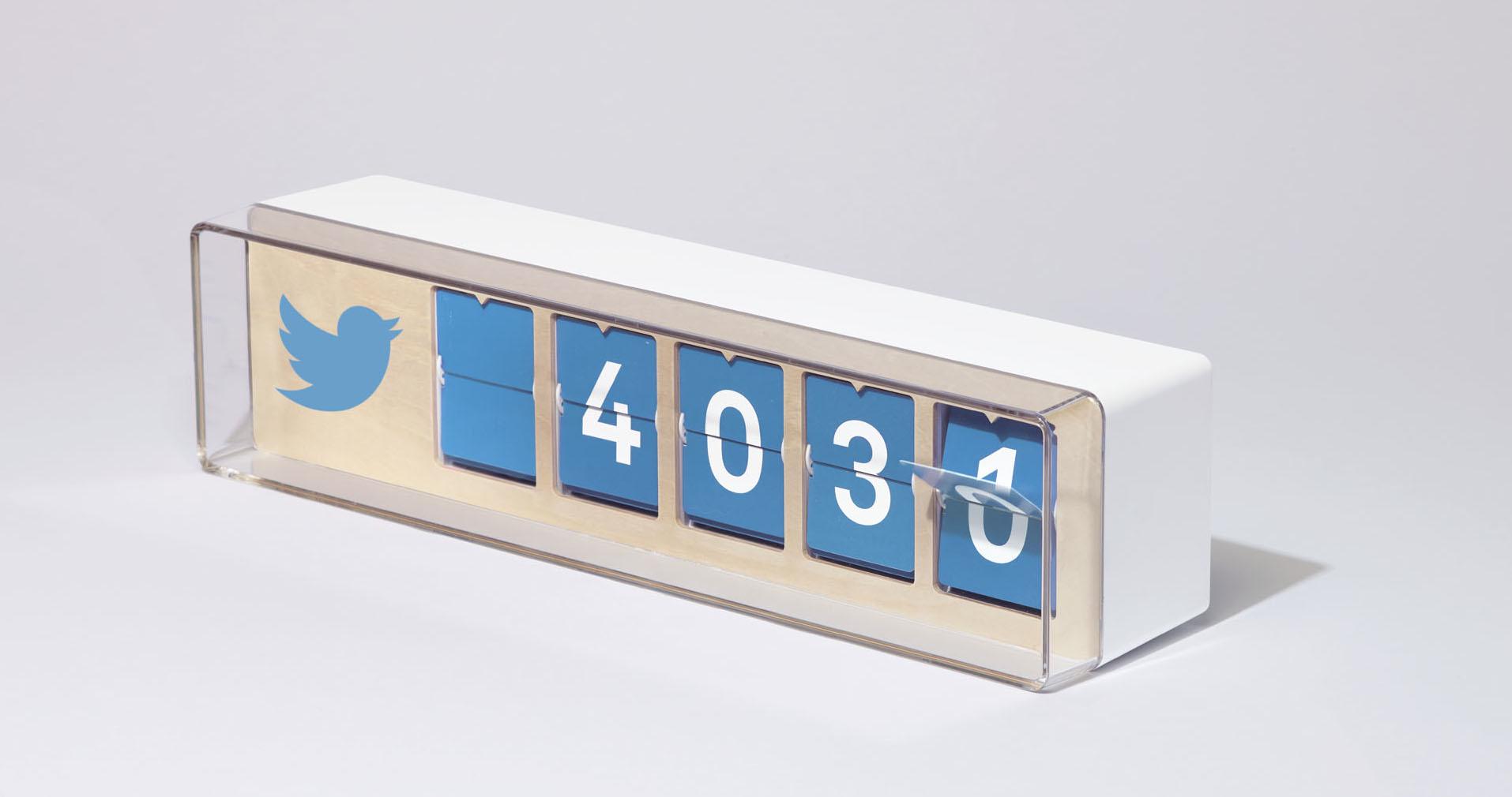 Smiirl Twitter Counter