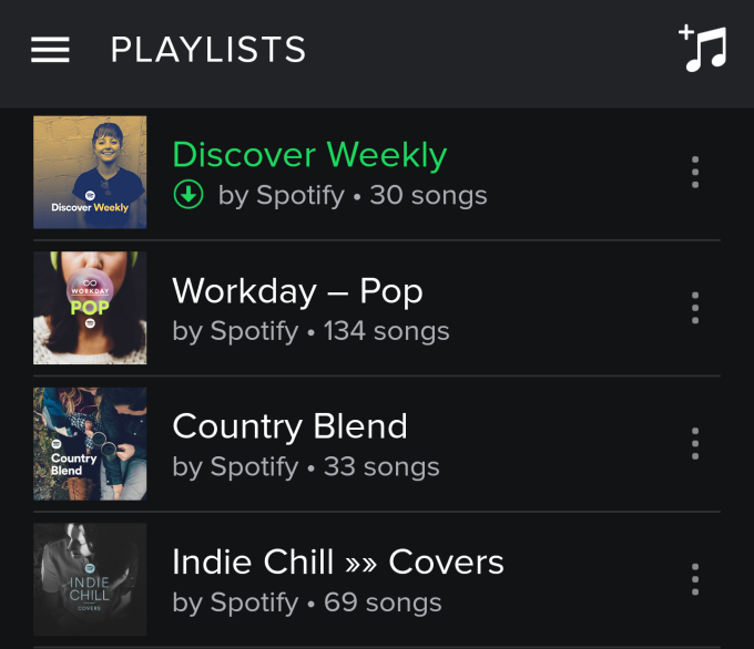 Discover Weekly - Playlists Android