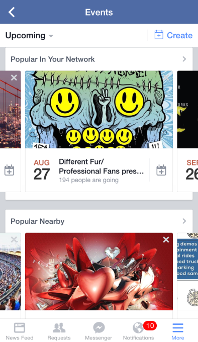 Facebook Events Discovery