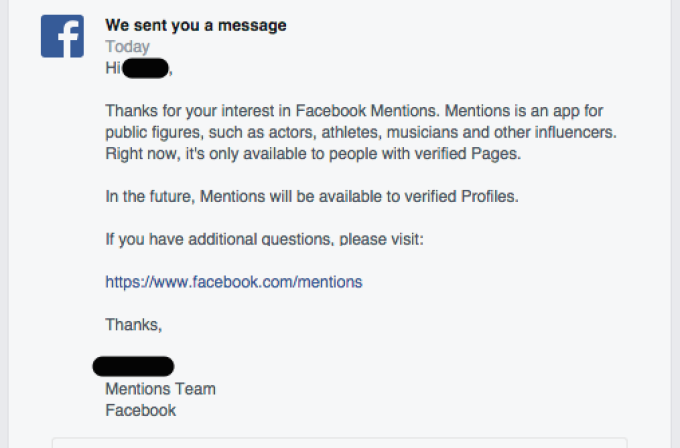Facebook Live Confirmation