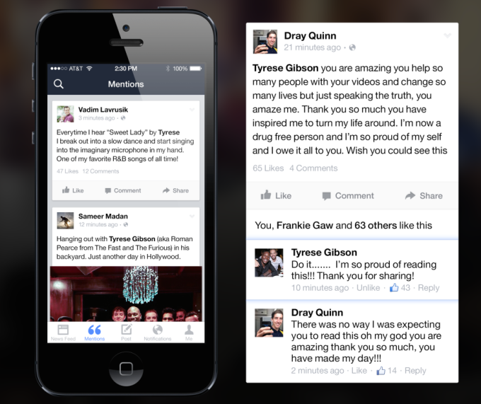 Facebook's VIP-only Mentions app