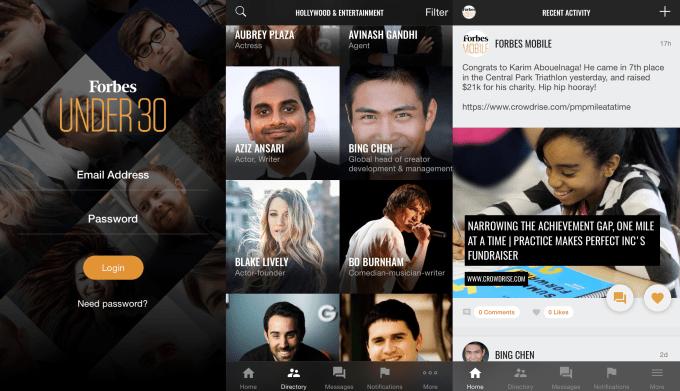 Forbes 30 Under 30 App