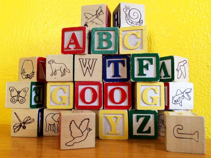 Google Alphabet blocks