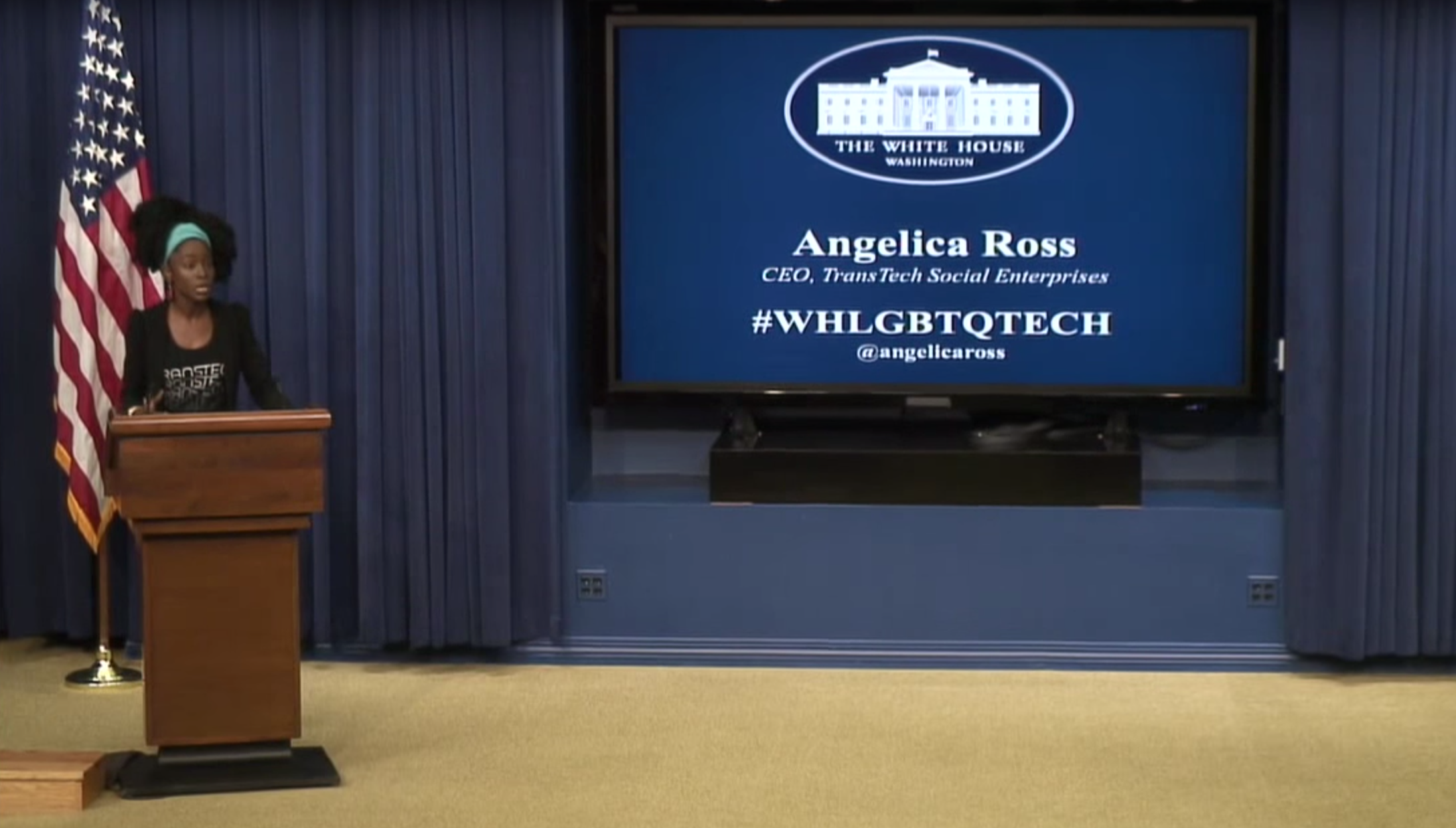 Angelica Ross at the White House LGBTQ Tech and Innovation Summit in August 2015