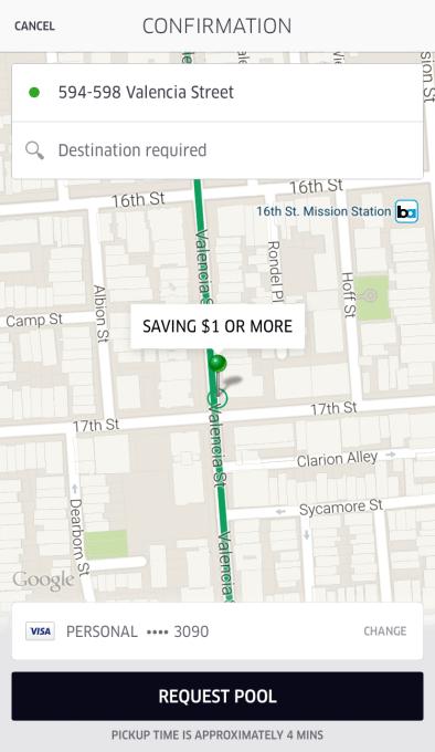 uber Smart Route Pickup