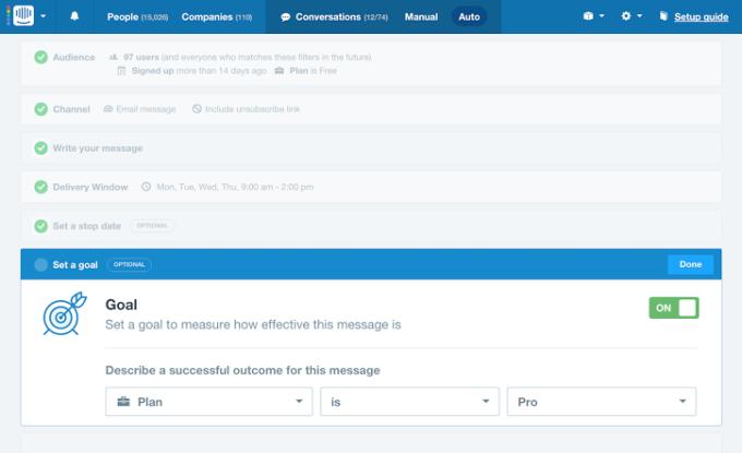 message goals screenshot