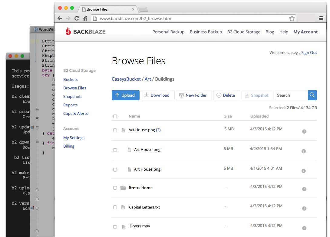 Backblaze-B2-04-screenshots-UI-CLI-API