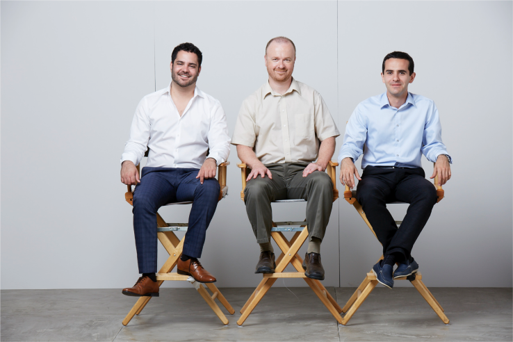 From left to right: Mahni Ghorashi (Co-founder & CMO), Cyril Bouteille (VP of Engineering), Sasan Amini (Co-founder & CEO)