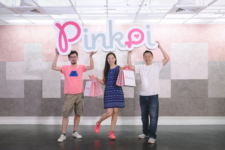 Pinkoi founders Mike Lee, Maibelle Lin and Peter Yen