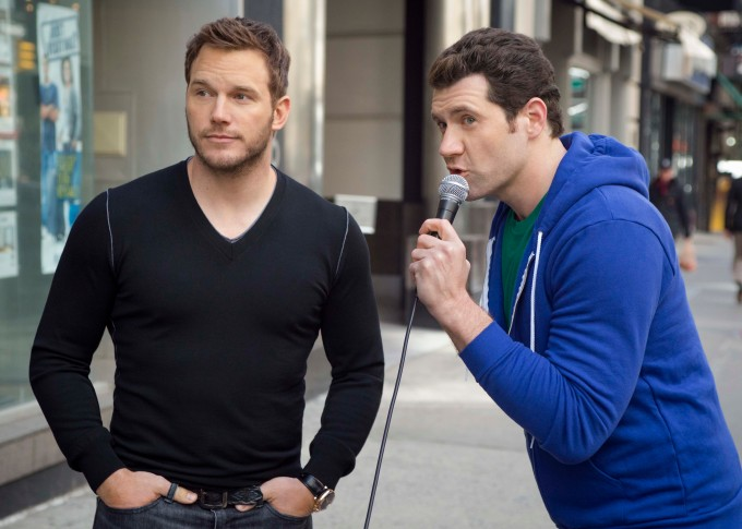 Billy on the Street interviews Chris Pratt.