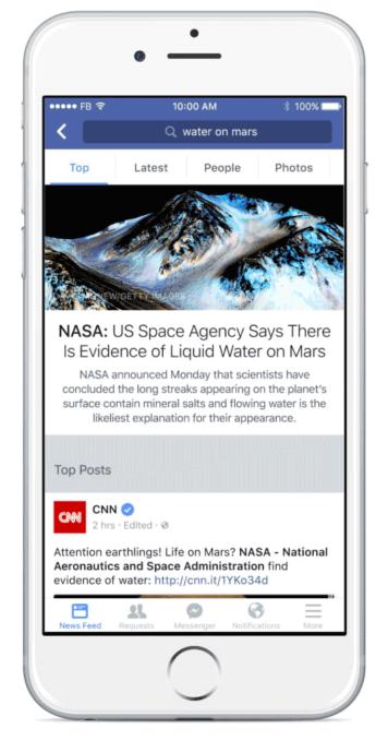 Facebook Search Summary