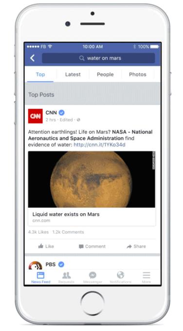 Facebook Top Sources