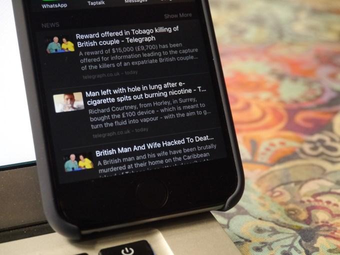 Spotlight Search newsfeed