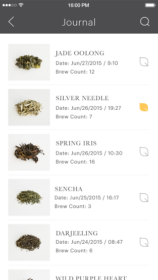 Teforia app_Personal tea journal