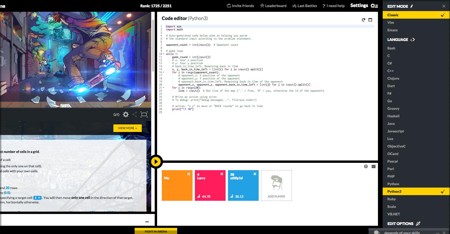 CodinGame-code-editor