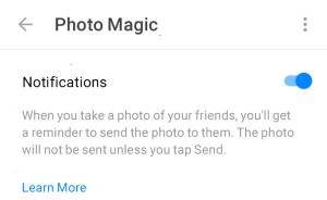 Facebook Photo Magic Settings