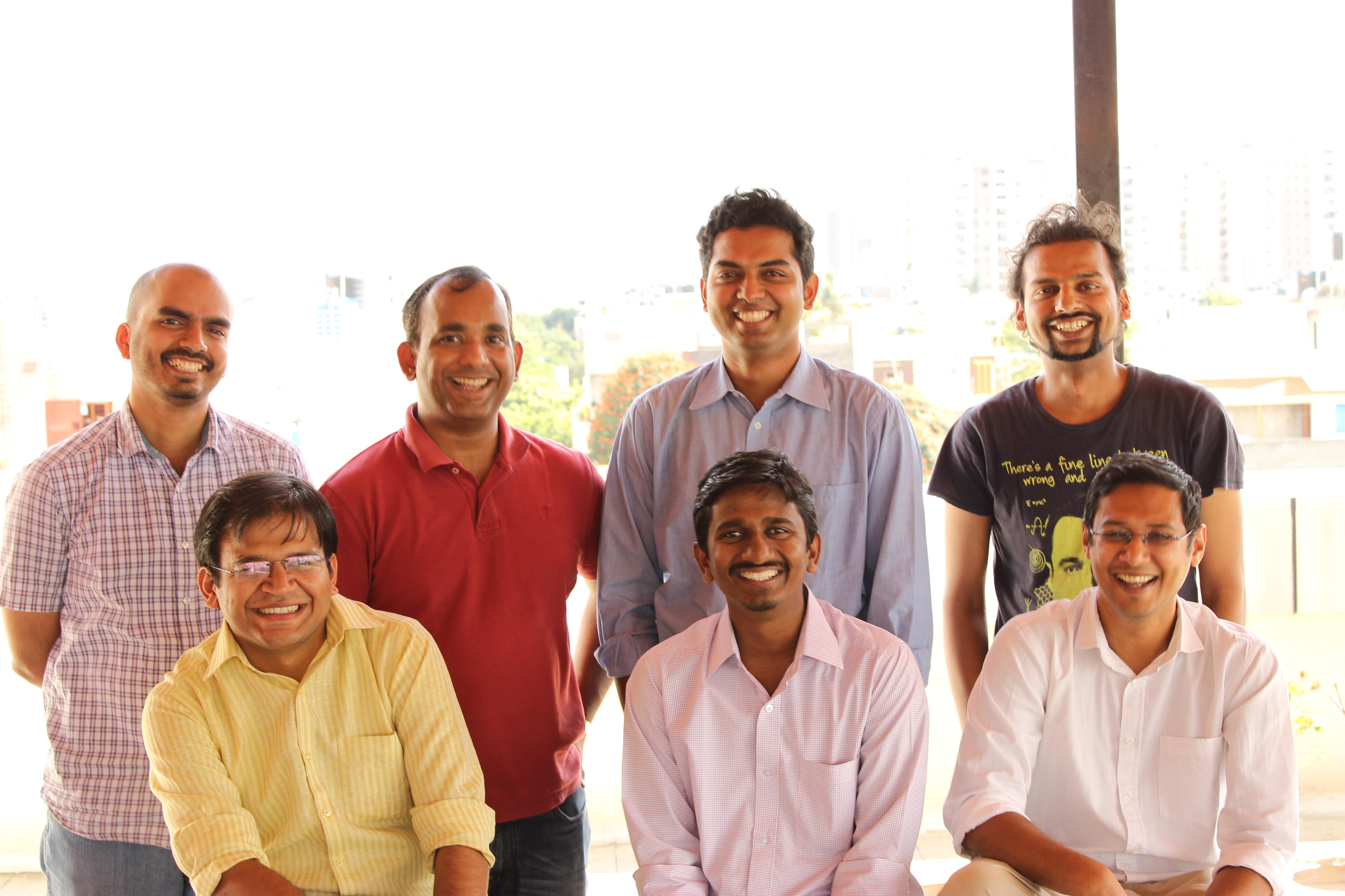 Goodbox's co-founders Charan Shetty, Abey Zachariah, Nithin Chandra, Mahesh Herle (top row, left to right); Mohit Maheshwari, Anand Kelaginamani, Mayank Bidawatka (bottom row, left ot right).