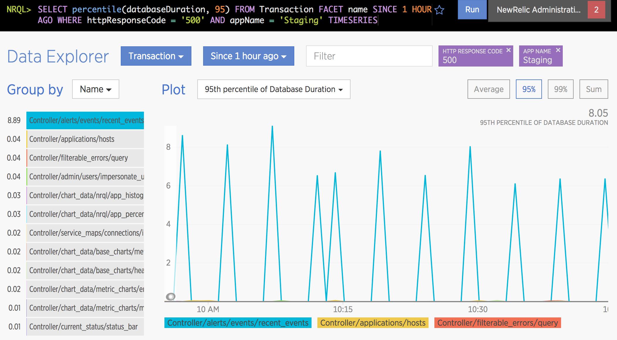 New Relic Insights Data Explorer 5
