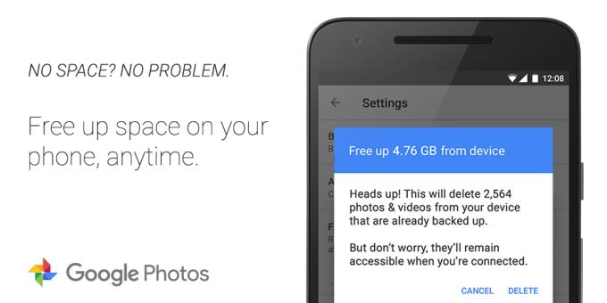 photos tweet - free up space