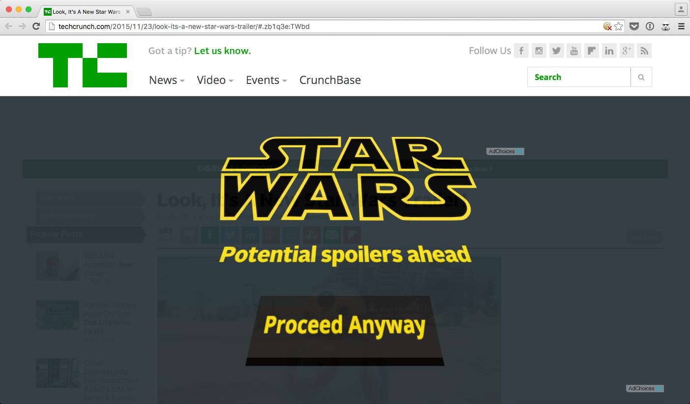 Star Wars Blocker