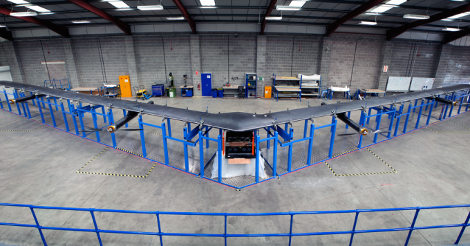 Facebook's drone Aquila can beam connectivity down to remote areas