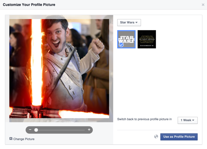 Facebook Star Wars Profile Picture
