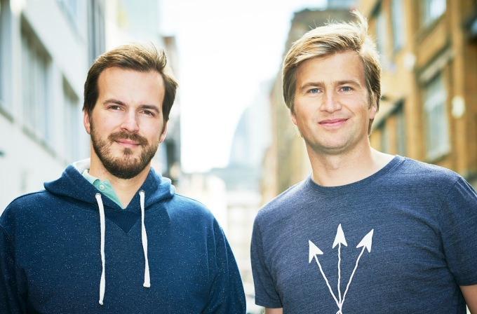 TransferWise founders (from left): Taavet Hinrikus and