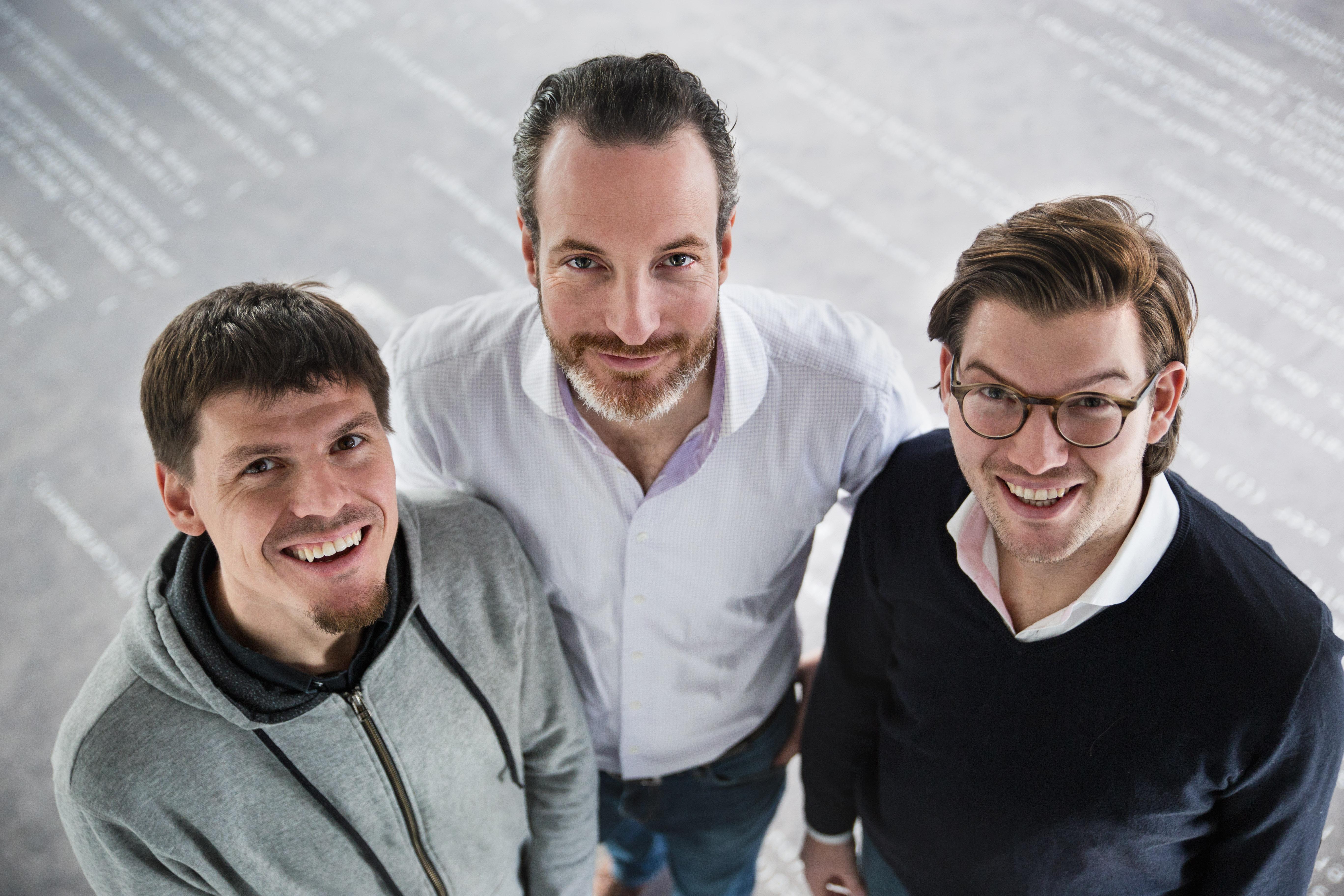 Christian Rebernik, CTO NUMBER26; Maximilian Tayenthal, founder and COO, CFO NUMBER26; Valentin Stalf founder, and CEO NUMBER26 (left to right) number26.eu