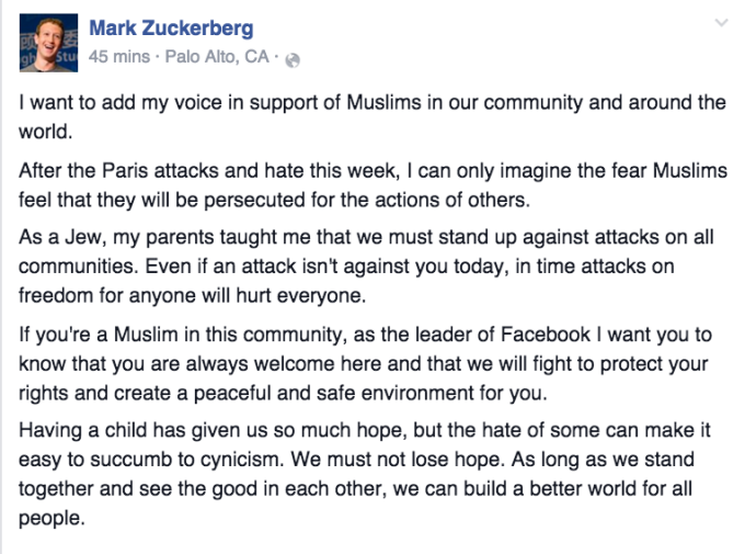 Zuckerberg Muslims