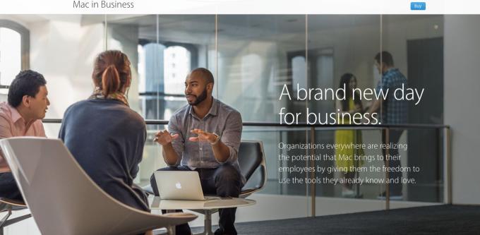Mac in Business website