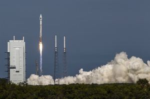 ULA's RD-180 powered Atlas V launch of an Air Force GPS asset in 2014 / Image courtesy of United Launch Alliance photo/John Studwell