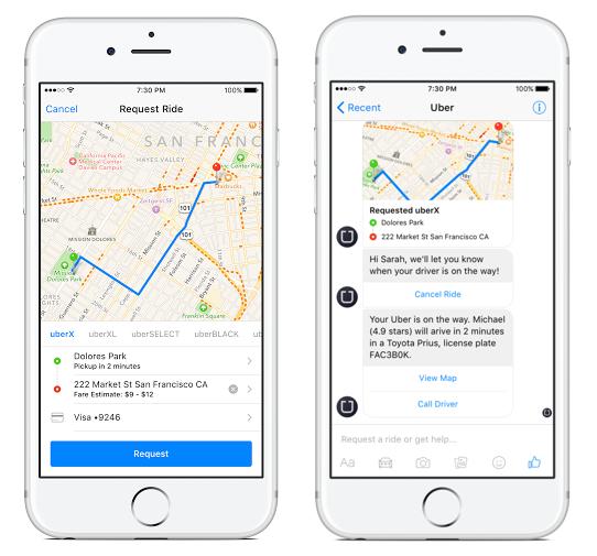 Facebook Chat Uber