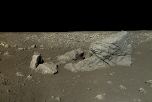 Lunar surface / Image courtesy of Chinese Academy of Sciences / China National Space Administration / The Science and Application Center for Moon and Deepspace Exploration / Emily Lakdawalla