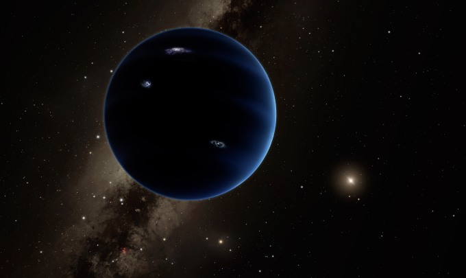 Illustration of Planet Nine which is thought to be gaseous, like Uranus and Neptune. / Image courtesy of Caltech/R. Hurt (IPAC)