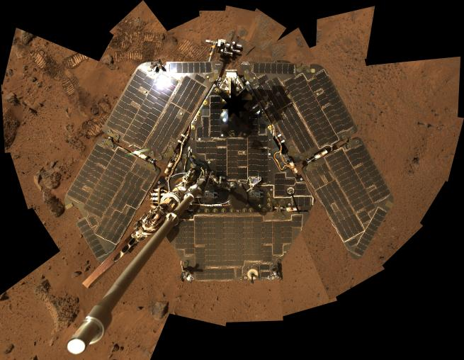 opportunity rover without dust