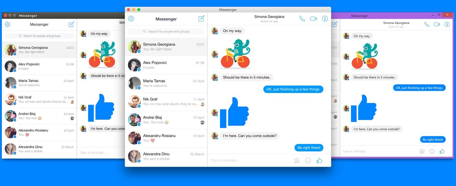 Unofficial Facebook Messenger For Desktop app