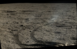 Yutu rover tracks / Image courtesy of Chinese Academy of Sciences / China National Space Administration / The Science and Application Center for Moon and Deepspace Exploration / Emily Lakdawalla