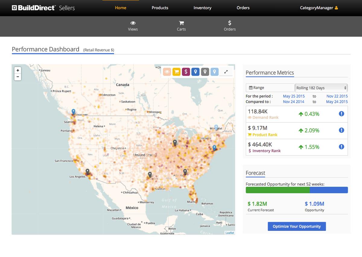 BuildDirect Seller Portal Landing Page