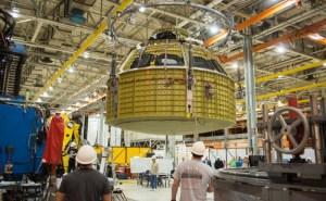 Orion pressure vessel at NASA's Michoud Assembly Facility / Image courtesy of NASA
