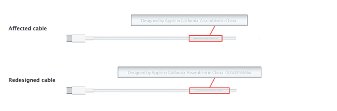 Apple USB-C charge cable recall