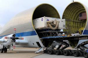 World's largest heat shield in the Super Guppy / Image courtesy of NASA