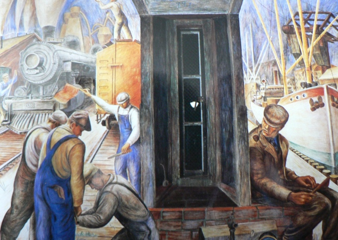 Coit Tower Mural courtesy of Flickr/under_volcano.