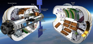 Bigelow Aerospace's B330 module with 330 cubic meters of internal space / Image courtesy of Bigelow Aerospace